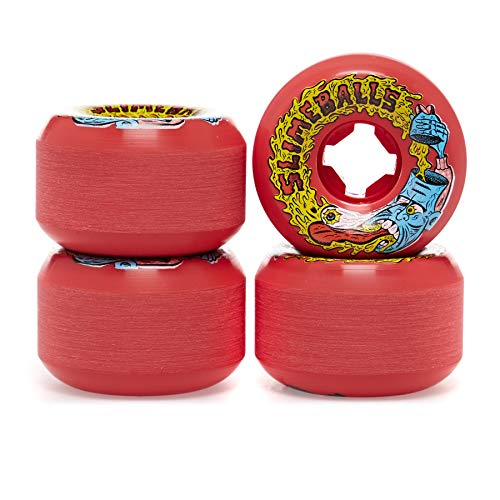 Santa Cruz Rot Slime Barfhead Vomit Mini 97A - 54Mm Skateboard Rolle (One Size, Rot)