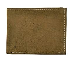Exotique Mens Beige Faux Leather Wallet (WM0012BG)