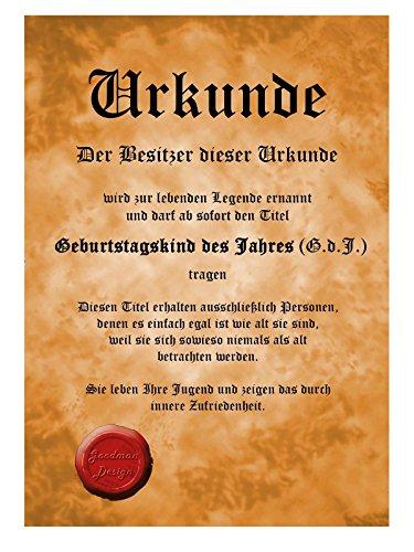 Geschenk Zum 30 Geburtstag Schürze Mit Urkunde Original