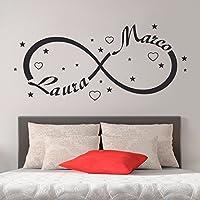 Wall sticker Simbolo Infinito Amore con Nome Adesivi Parete Murali
