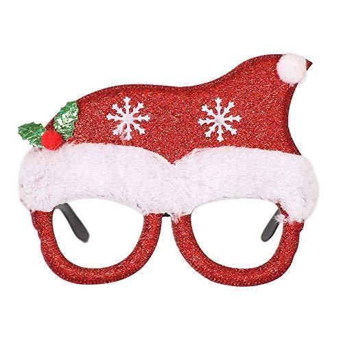 XINSU Weihnachten Brille Schneemann Frame Happy Year Kids Favors Xmas Geschenk Party Decor, Weihnachtsdekoration Brillengestell, Weihnachten Kostüm, Kinder Geschenk (Multicolor G)
