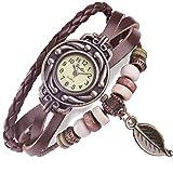 """FLORAY Cuoio Bracciali orologio da polso + """"Floray"""" Libero Bella Scatola Gioielli Blu. Lunghezza: 18cm - 20cm"""