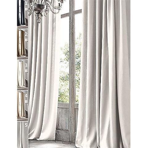 CLL/ twopages prima 100% lino natural acabado en bronce cortinas cortina de ojal aceitado (un panel) , 5-w50
