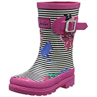 Joules Girls' Welly Wellington Boots, multicolour (Stripe Floral), 12 Child UK 31 EU