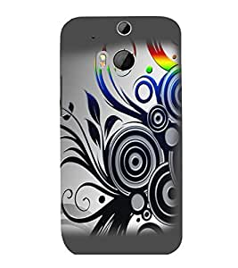printtech Abstract Pattern Design Back Case Cover for HTC One M8::HTC M8