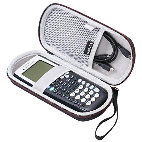 LTGEM EVA Hard Fall Reise Tragen Aufbewahrung Tasche für Texas Instruments Texas Instruments TI-84, 83 / Plus / CE Graphics Kalkulator- Inklusive Mesh-Tasche (Reise-instrument)