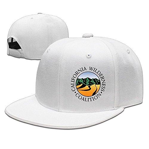 hittings-california-wilderness-coalition-new-summer-snapback-hats-plain-caps-white