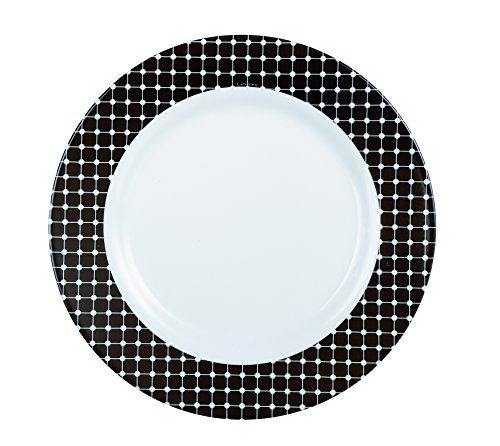 Luminarc 8010486 Tiago Lot de 6 Assiettes Opale Noir 19 x 19 x 2 cm