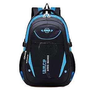 Unisex Zaino Scuola per Elementare e Media impermeabile Schoolbag Casuale per Ragazze Scuola Borse Zaini Borsa Scuola Borse da Viaggio (Blu)