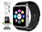 Smart Watches Beste Deals - Smart Watch, Badmüllbehälter Pushman 1Wasserdicht Smart Watch Telefon für iPhone 5S/6/6S und 4.2Android oder vor Smartphones, Badmüllbehälter Pushman