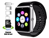 Smart Watch, Pushman 1impermeabile Smart Watch Phone per iPhone 5S/6/6S e Android 4.2o superiore Smartphone, Pushman