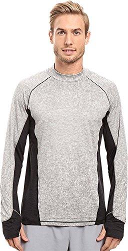 Dash Long Sleeve (Brooks Men's Dash Long Sleeve Top Heather Oxford/Heather Black T-Shirt XL)
