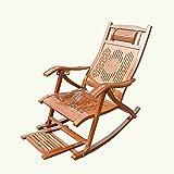 ZXQZ Schaukelstuhl Erwachsene Mittagspause Bambus Schaukelstuhl Außen Faltbare Lounge Sessel Ältere Freizeit Schaukelstuhl Liegestühle (Farbe : C)