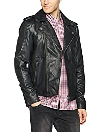 Hilfiger Denim Thdm Leather Biker 52, Blouson Homme