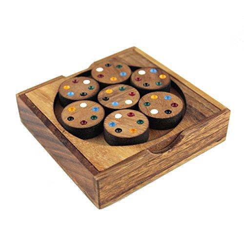 Dilemmata Cycle Match Kreis Schlacht Holz Puzzle Knobel IQ-Spiel - Kreis Holz-puzzle
