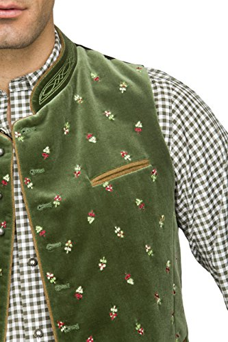 Stockerpoint - Herren Trachten Weste in verschiedenen Farbtönen, Calzado, Größe:56, Farbe:Moosgrün - 3