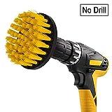 Spin Scrubber Brosse de nettoyage électrique, 4 pouces Orange Sleepsoon Power Scrubbing Brush Drill Fixation pour voiture, salle de bain, parquet, nettoyage de la buanderie