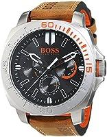 Boss Naranja para hombre-reloj analógico de cuarzo cuero Multieye SAO Paulo 1513297 de BOSS Orange
