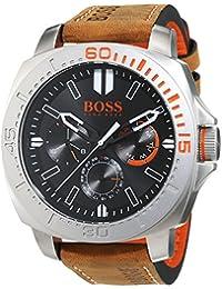 BOSS Orange Herren-Armbanduhr SAO PAULO Multieye Analog Quarz Leder 1513297