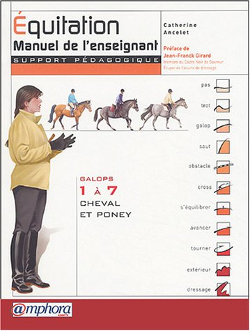 quitation : Manuel de l'enseignant (Support pdagogique) - Galops 1  7 - Cheval et Poney