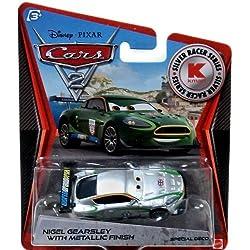 Disney Pixar Cars 2Exclusive 1: 55Die Cast Car Silver Racer Nigel Gearsley with métallique Finition