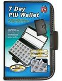 Delux 7 Day Pill Wallet Organiser Box Tablet Dose Reminder Storage