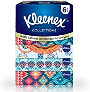 Kleenex Facial Tissue Collections - Pack of 6 Boxes, 90 Tissues x 2 Ply