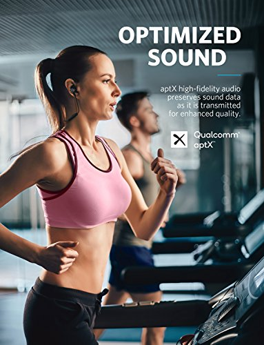 Soundcore Wireless Headphones Spirit Pro by Anker, with Dual EQ, 10 Hour Playtime, SweatGuard Technology, Hi-Fi Sound, Built-In Mic, Bluetooth Headphones for Sports, Workout, and Gym