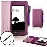Forefront Cases® Amazon Kindle Voyage Funda Carcasa Stand Smart Case Cover Protectora Plegable de Cuero – Función automática inteligente de Suspensión/Encendido + Lápiz óptico