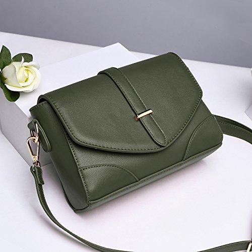 LiZhen piccoli pacchetti femmina marea nuovo mini Messenger Bag borse donna wild, coreano e atmosfera elegante ragazza, spalla la sua carta verde Card il suo verde