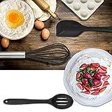 CRMICL 20 Stück Silikon-Küchengeräte, WisFox Kochgeschirr Stücke Hitzebeständiges Silikon-Geschirr Küchenhelfer Set, Antihaft-Küchenbackwerkzeuge 10 Sätze + 10 S-Haken -Schwarz - 5
