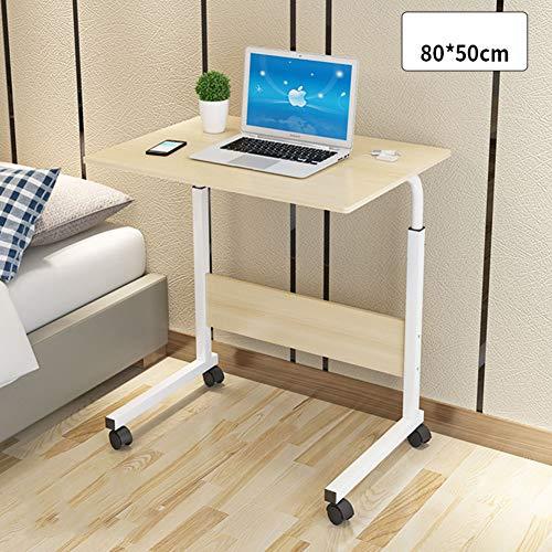 tertisch Höhe Verstellbar,nachttisch Mit Rädern,Laptop-Tisch Bücherregal Schreibtisch Warenkorb Über Bett Krankenhaus-j 80x50cm(31x20inch) ()