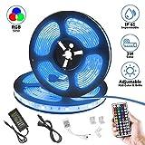Augenblick Luz Tiras LED, 10 metros, 300 LED Multi-colores, Control remoto, IP65 Impermeable