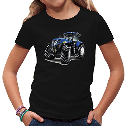 Traktoren Kinder T-Shirt - Traktor New Holland T7070 by Im-Shirt - Schwarz Kinder 12-14 Jahre
