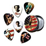 Bruce Springsteen Set of 6 Loose Guitar Médiators in Tin ( Collection E )
