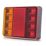 TOOGOO(R) 8 LED DC12V Waterproof Taillights Rear Tail Light For Trailer Truck Boat