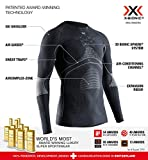 X-Bionic Energy Accumulator 4.0 Round Neck Long Sleeves, Strato Base Camicia Funzionale Uomo, Charcoal/Pearl Grey, 2XL
