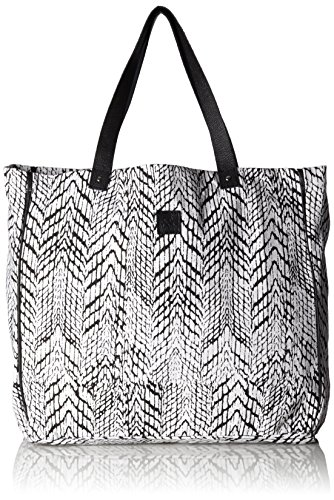 Black Lily PAIGE Margin CANVAS BAG 000.567 Damen Shopper 41x38x15 cm (B x H x T), Weiß (White)