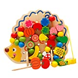 MagiDeal Holz Frucht Schnürung Puzzle Bildung Spielzeug Geschenk für Kinder Baby
