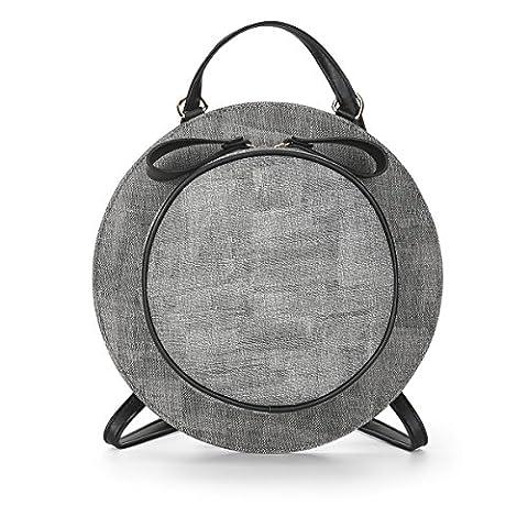LDMB Sacs à main femme Femmes PU cuir léger simple sauvage Casual Hat Backpack couleur solide réglable étanche sac à bandoulière Crossbody Bag , gray