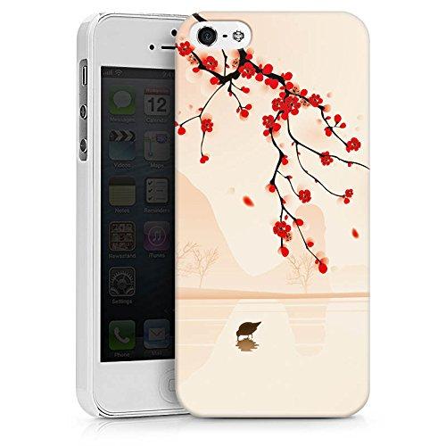 Apple iPhone X Silikon Hülle Case Schutzhülle Baumzweig Blätter Blüten Hard Case weiß