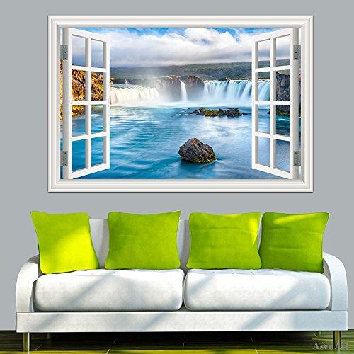 Paisaje 3d adhesivo decorativo para pared decoraci n para for Decoracion hogar 3d