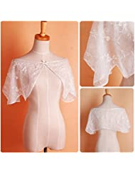 &huahua Vestido de boda nupcial/chal/moda/novia accesorios/caliente/capa/Dama de honor/manual/cordón , white