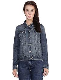MansiCollections Dark Blue Denim Jacket for Women