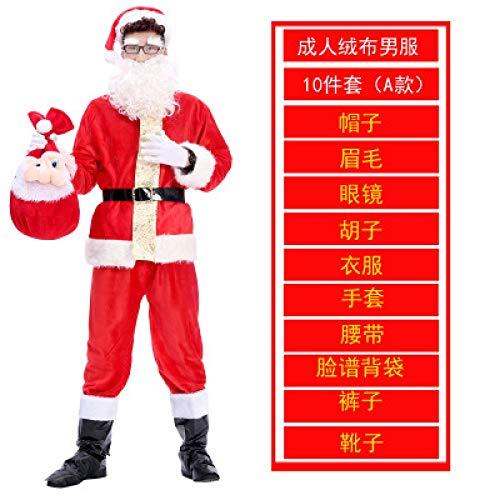 LanMiu Weihnachtskostüm Kinder Erwachsene Weihnachtsmann Kleidung Dekorationen kleine Geschenke Weihnachtskleidung weibliche Männer Zeigen Kostüme-23