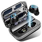 Cuffie Bluetooth 5.0 Auricolari Senza Fili, Donerton Hi-Fi Stereo Wireless Cuffie con Microfono, Cuffie in Ear con 125H Playtime Custodia da Ricarica, Display LED Intelligente e Porta Ricarica Tipo C