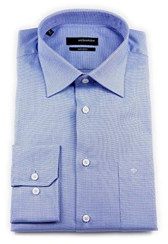 Seidensticker Herren Langarm Hemd Splendesto Regular Fit blau strukturiert 110900.13 Blau