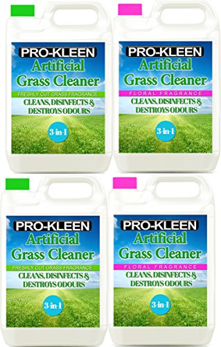 20l-of-pro-kleen-artificial-grass-cleaner-disinfectant-deodoriser-2-x-5-litres-freshly-cut-grass-and