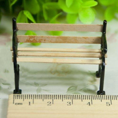 SODIAL 1//24 Miniatura de casas de munecas Muebles de patio jardin Banco del parque R