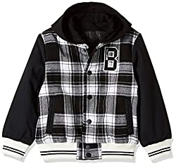 United Colors of Benetton Boys Jacket (16A2JACK0002I901EL_Black and White)
